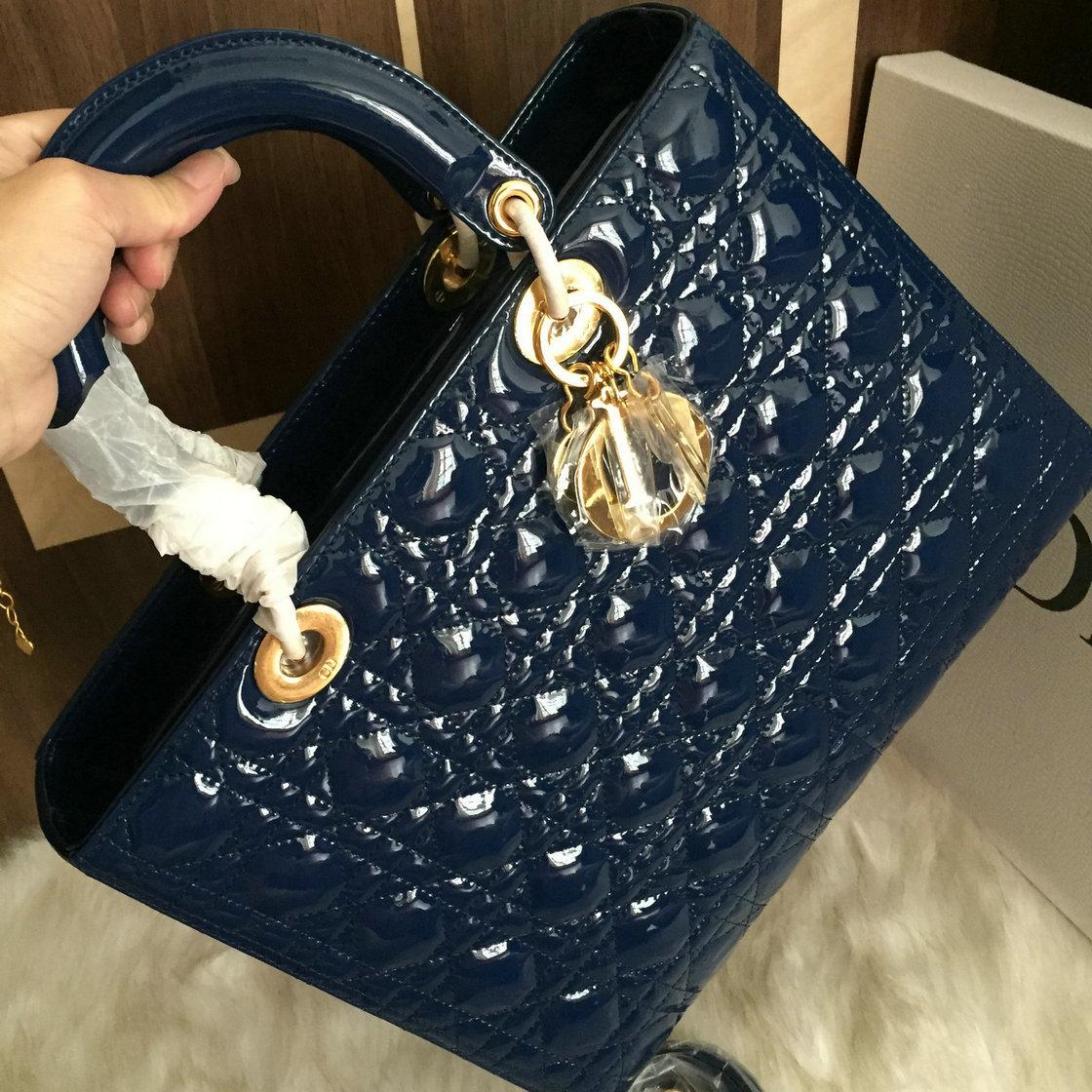 f67e864caf62 Preshipment Photos of Christian Dior Lady Dior medium Patent Leather Best  Original Quality