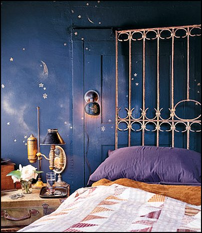 Decorating theme bedrooms maries manor celestial moon stars astrology galaxy theme - Stars for walls decorating ...