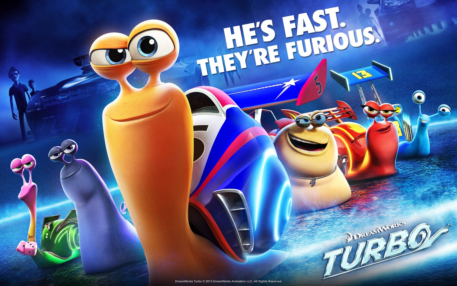 4 new clips of turbo, the high-speed snail movie : teaser trailer