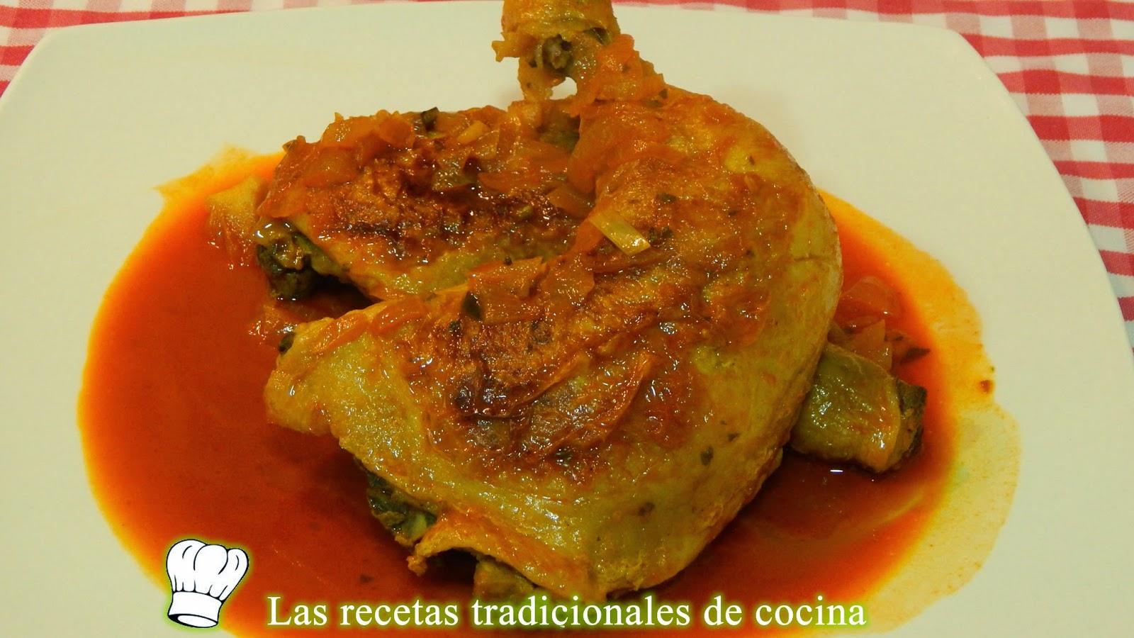 Pollo con salsa de pimentón