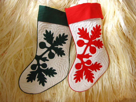 Black Pearl Designs Customize Your Hawaiian Quilt Christmas Stockings
