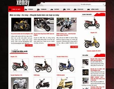 thiết kế website bán hàng xe máy chuyên nghiệp