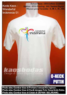 Kaos Wonderful Indonesia 01