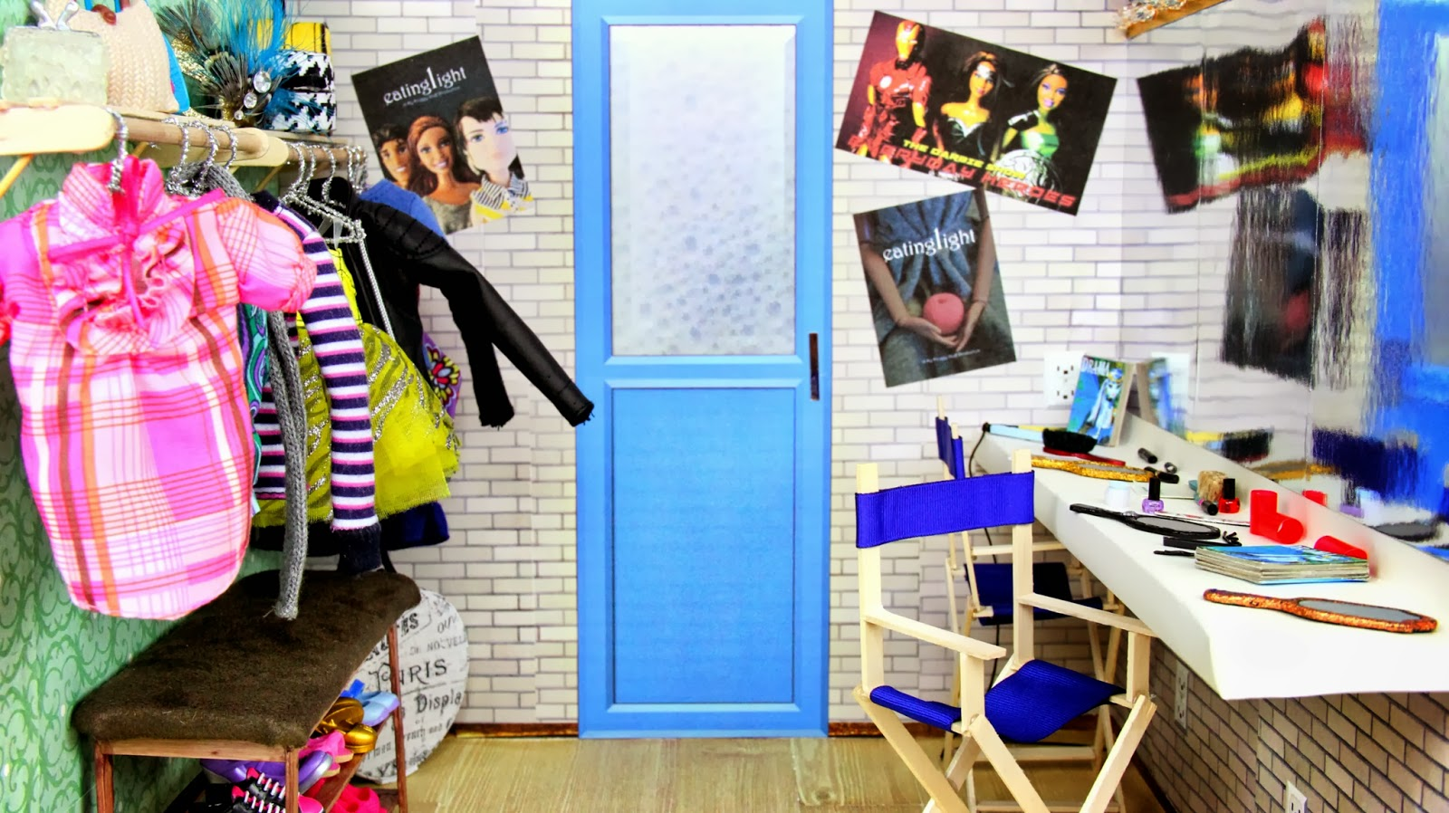 Doll Backstage Dressing Room and Drama Printables. My Froggy Stuff  Doll Backstage Dressing Room and Drama Printables