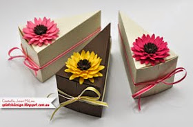 Flower Cake Box Tutorial - $1.95