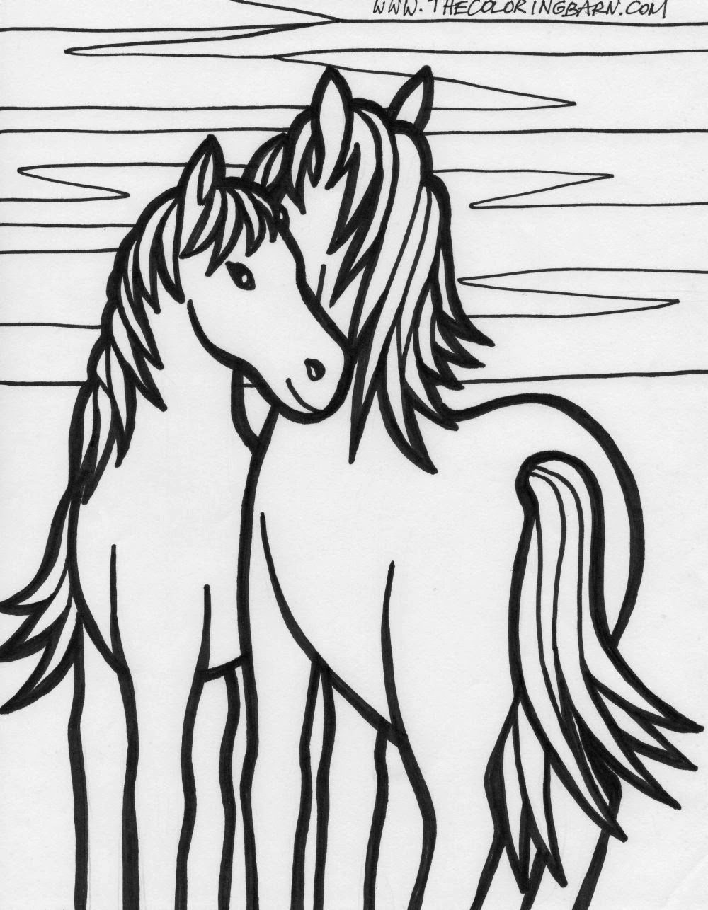 coloring pictures of horses