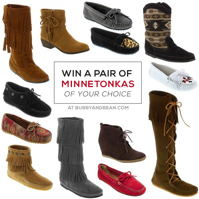 GIVEAWAY // Win a Pair of Minnetonka Moccasins from Bubby and Bean