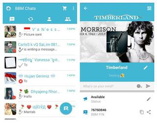 BBM Mod Blue Theme V 2.9.0.51 Apk For Android