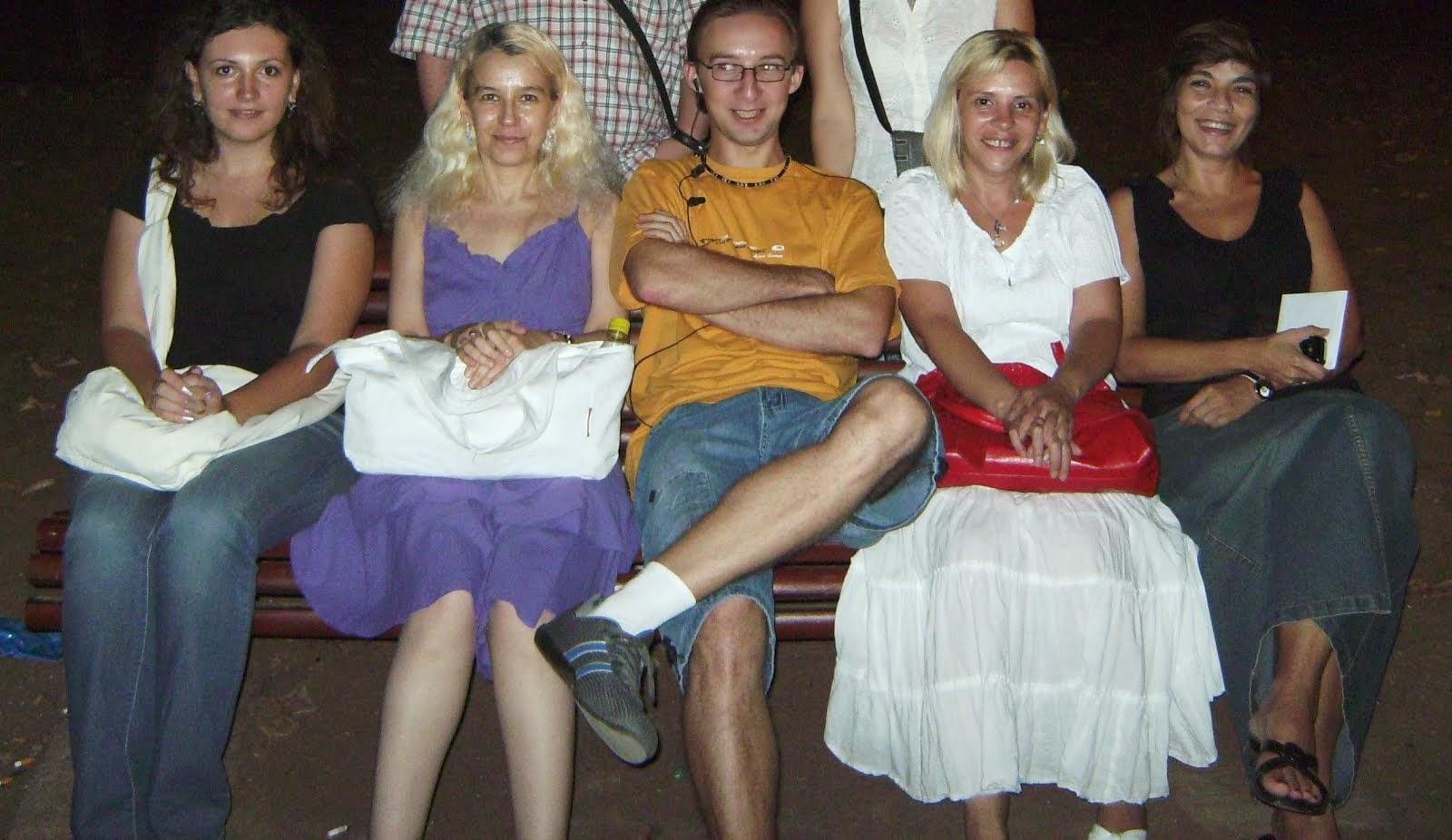 Olivia Maria Marcov, Alexandra Georgescu, Adrian Pafa, Bianca Eftimie, aug.2009, Bucharest