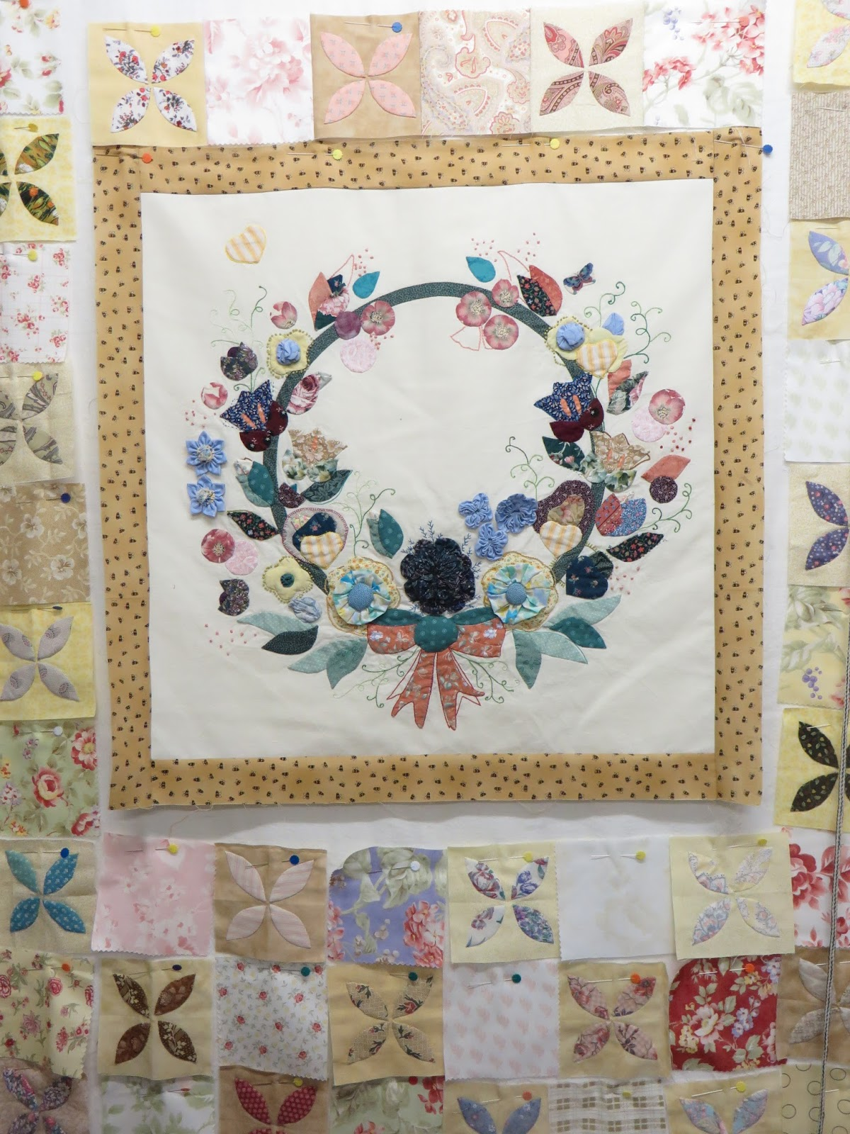 On the spur quilting for Garden shed quilting