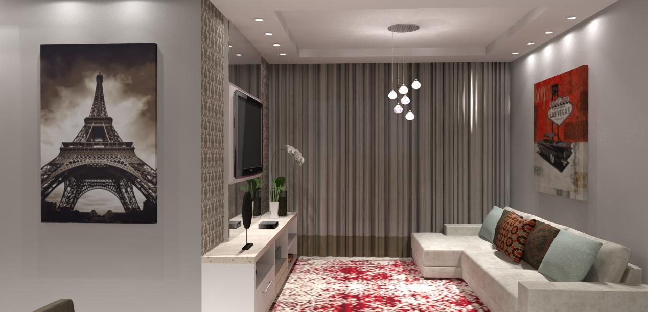 Sala De Jantar E Tv Apartamento ~  social completa incluindo hall de entrada sala de tv sala de jantar