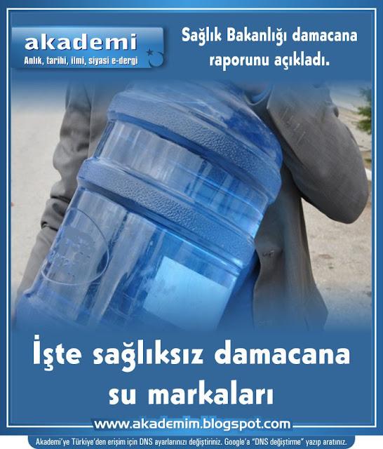 Sağlık Bakanlığı damacana raporunu açıkladı. İşte sağlıksız damacana su markaları