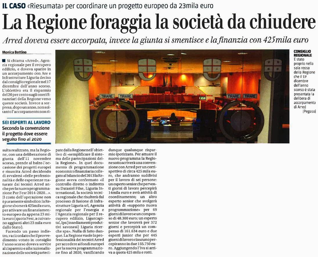 Alassiofutura genova la regione guidata da claudio for Diretta da montecitorio