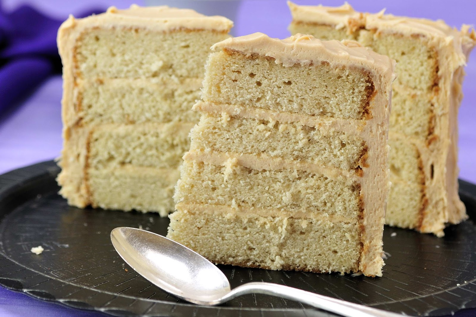 Brown Sugar Caramel Frosting Cake (cake recipe adapted from Martha ...