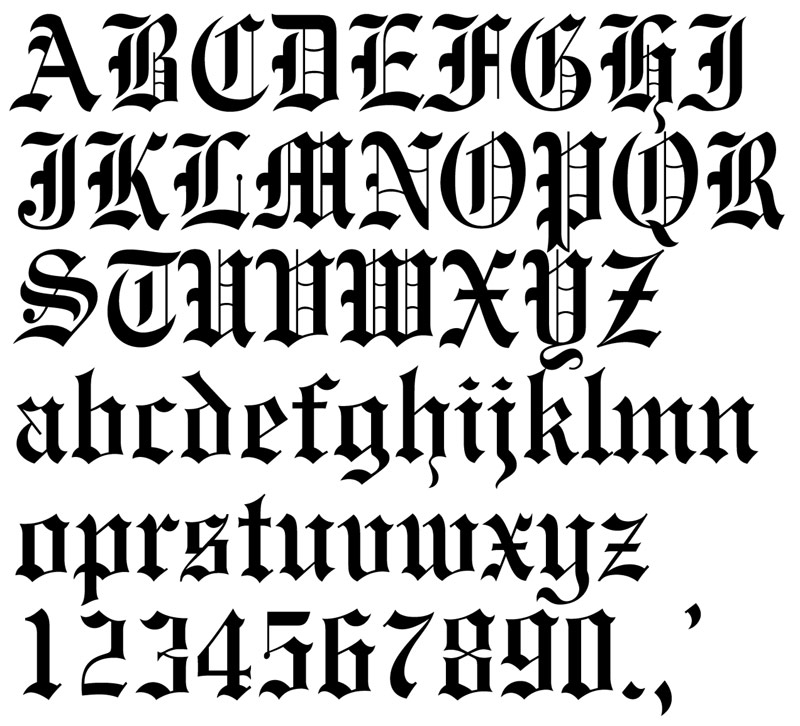 Page fancy lettering fonts