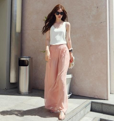 Long and flowy goucho summer pants