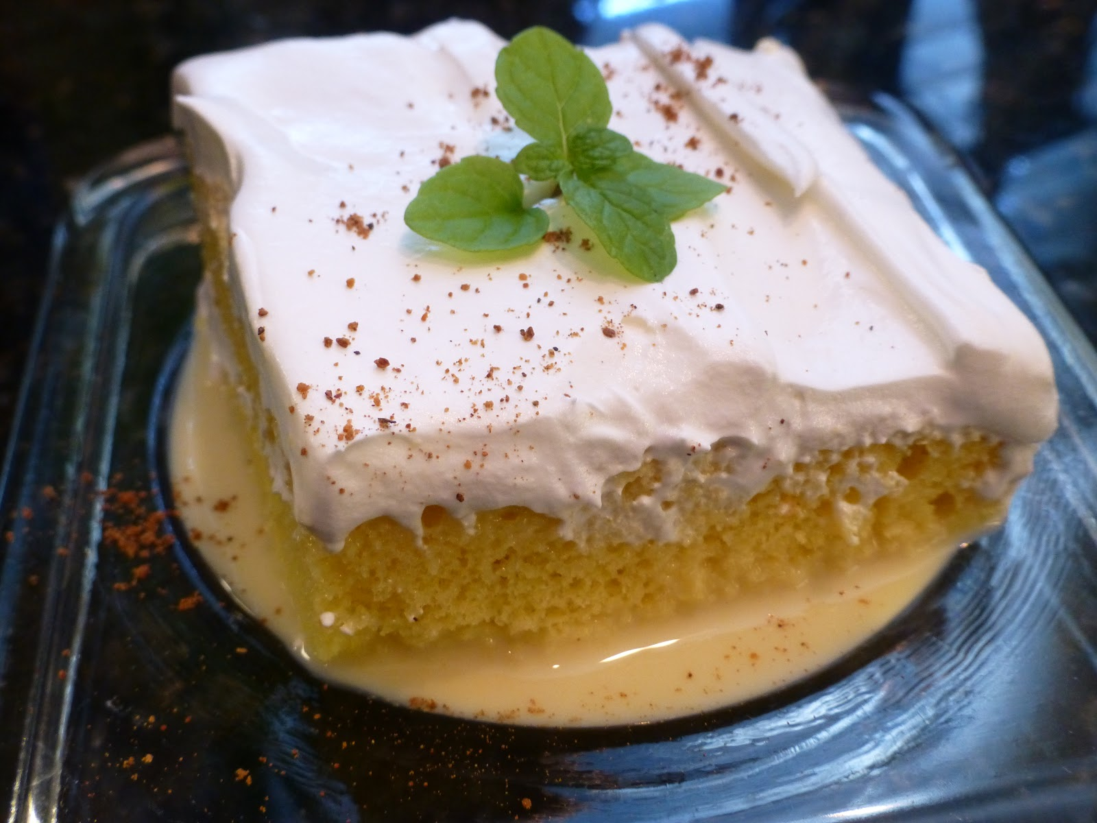 Monster Mama: Eggnog Tres Leches Cake