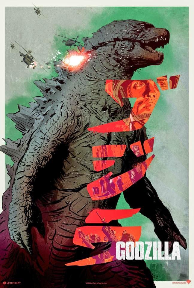 Godzilla classical poster