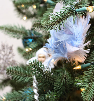 Feather Recycled Christmas Ornament
