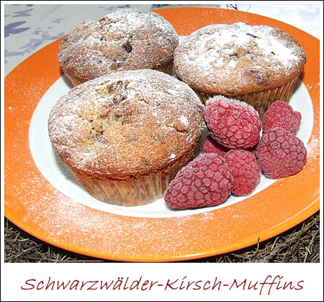 kaffeeklatsch einfache und schnelle rezepte schwarzw lder kirsch muffins. Black Bedroom Furniture Sets. Home Design Ideas