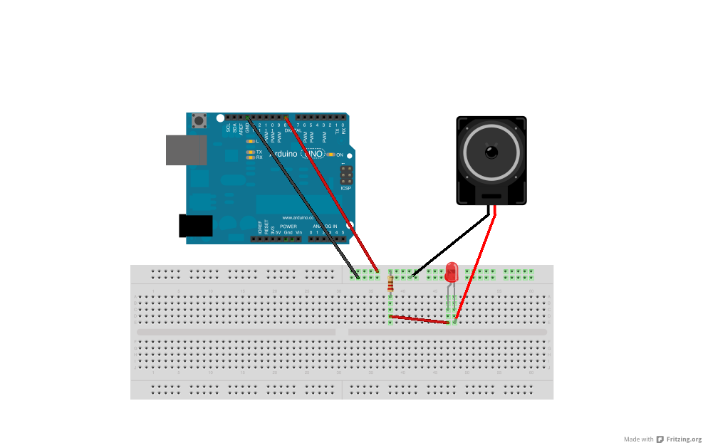 how to connect a speaker to an arduino