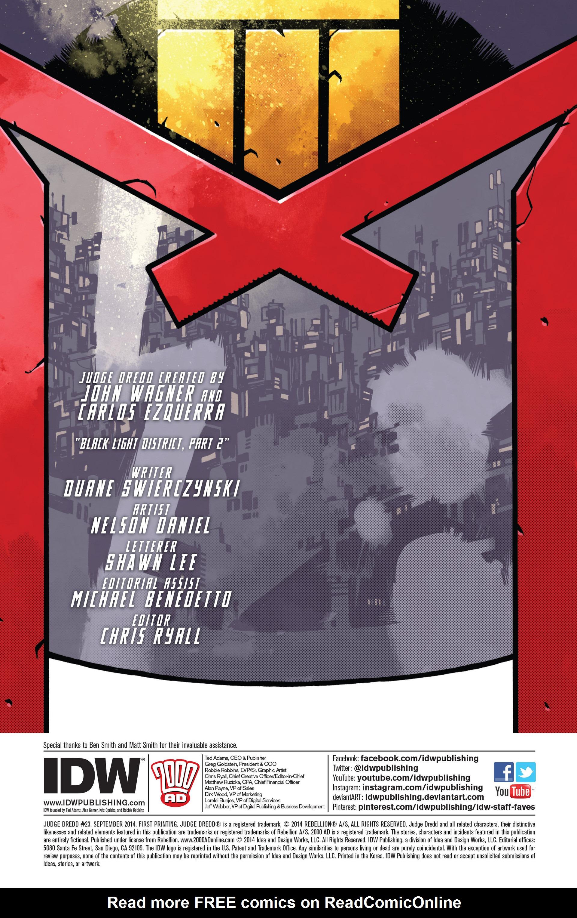 Read online Judge Dredd (2012) comic -  Issue #23 - 2