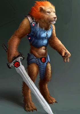 Realistic Bestial Lion-O Redesign