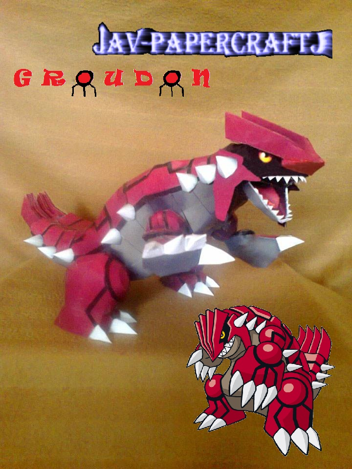 Pokemn Groudon Paper Model