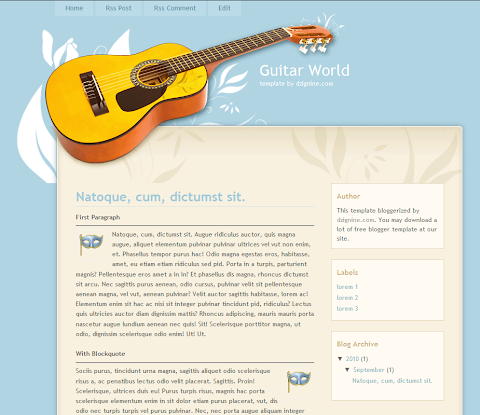 Guitar World Blogger Theme