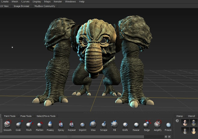 Texture development of the CGI Voydarkatron for Henry Bramble short