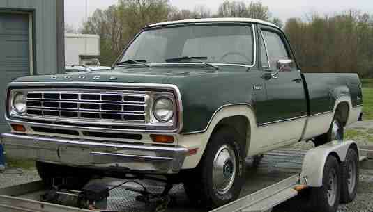 5k Flash: Trailer Queen: 1974 Dodge D-100 Pickup