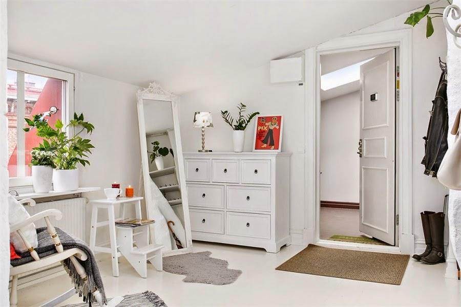 wystrój wnętrz, wnętrza, urządzanie mieszkania, dom, home decor, dekoracje, aranżacje, styl skandynawski, mini loft, białe wnętrza, biel, otwarta przestrzeń