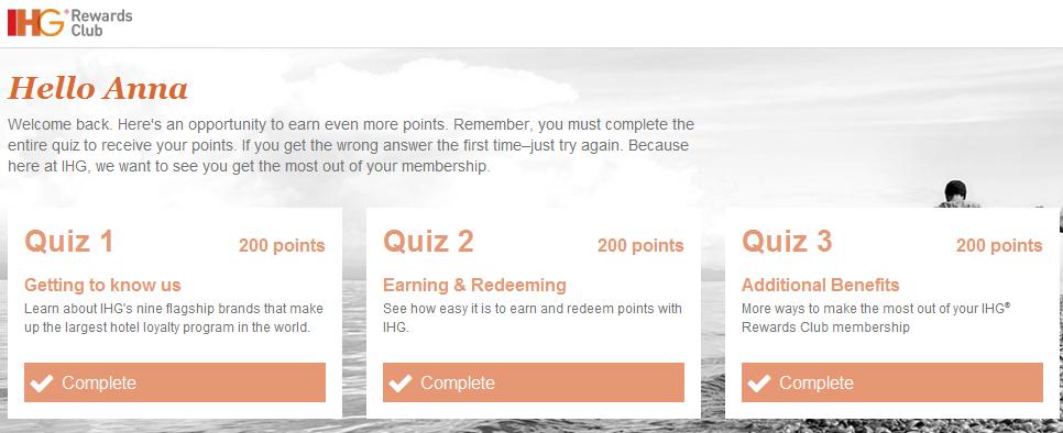 600 darmowych punktow IHG Rewards Club