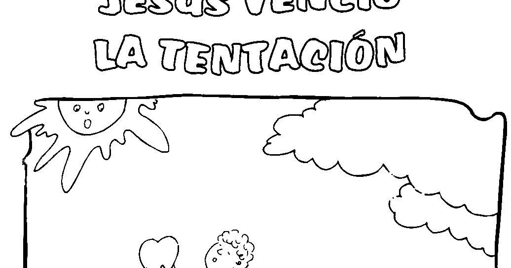 Imagen Jesús venció las tentaciones para colorear ~ Mi vida sin ...