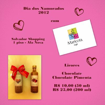 Sugestão de presente para o Dia dos Namorados 2012: Licores do Maricota Café