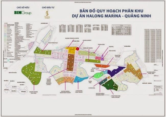 Nhà phố liền kề San Hô Hạ Long- Bản đồ tổng thể