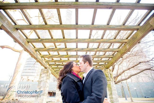Chicago Engagement Olive Park Sun