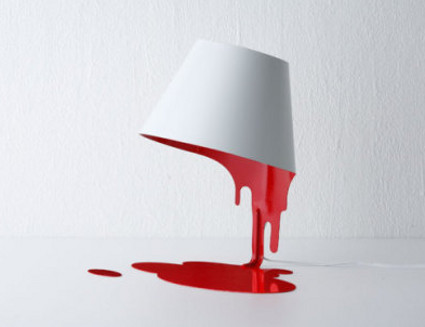 High Quality Bloody Liquid Lamp   An Optical Illusion