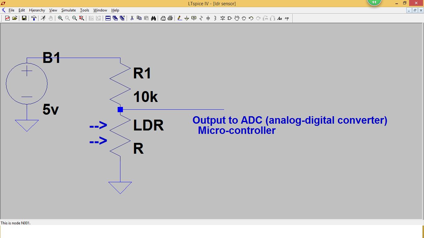 Sensor Projects: Brightness light sensor for Micro-Controllers using ...