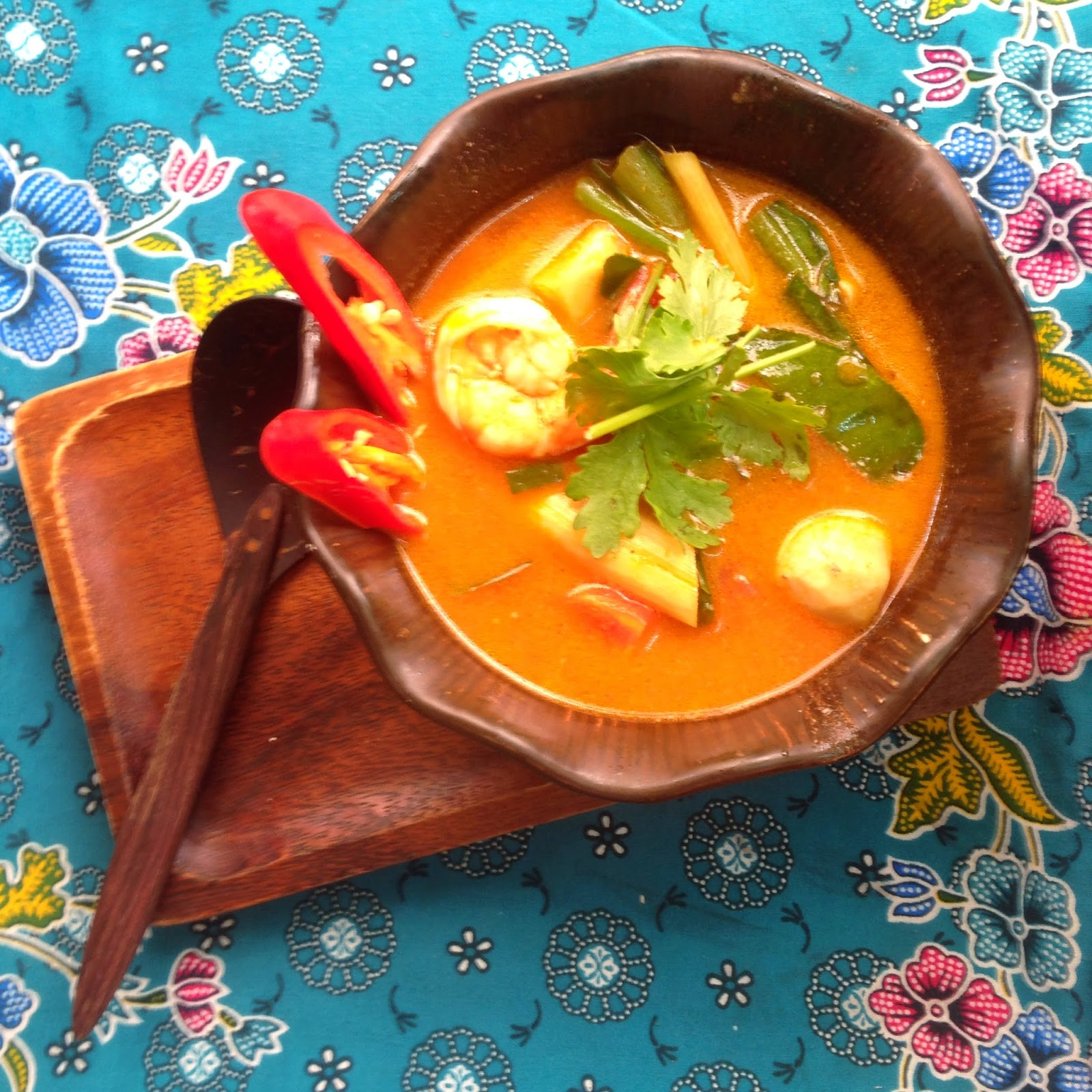 Happy Hour Honeys-  Tom Yum Soup from Silom Cooking School in Bangkok