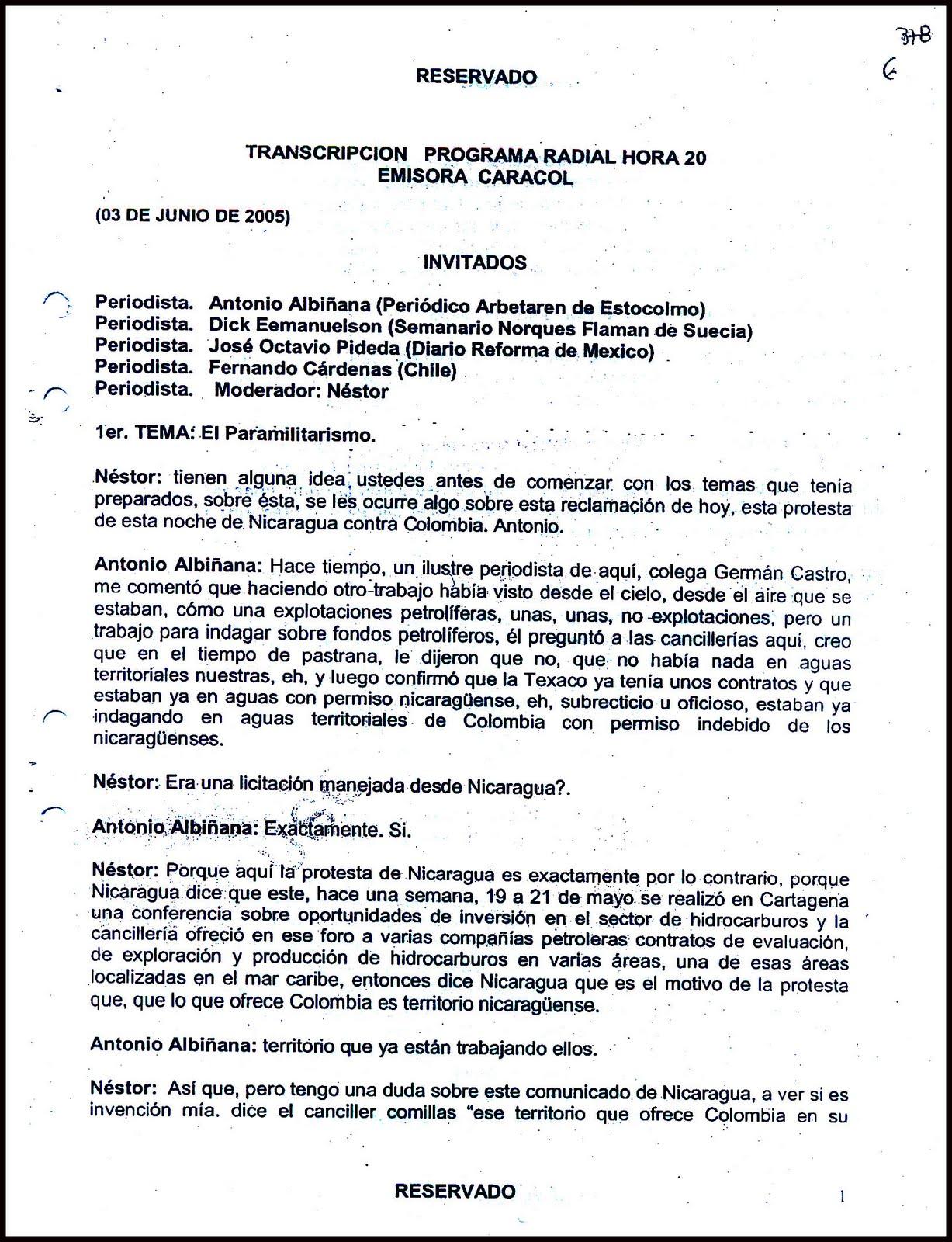 LECTURAS DE CUARTA SEMANA DE OCTUBRE DE 2011