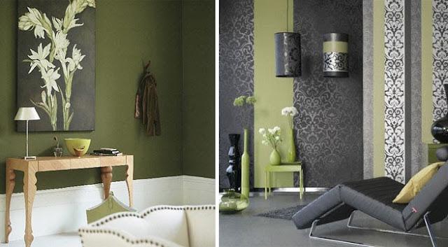 Disenyoss decoracion pinturas decorativas - Pintura pared verde ...