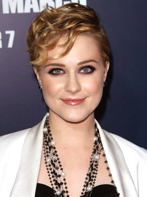 Evan Rachel Wood shows off her edgy side with a sexy crop and playful finger waves.