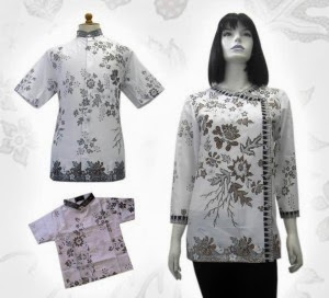 contoh baju batik perempuan putih