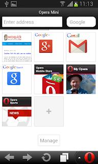 Opera Mini Handler UI