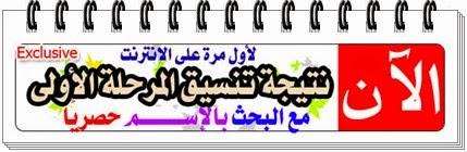 ظهرت الان نتيجة تنسيق المرحلة الاولى للثانوية العامة 2014 بالأسم ورقم الجلوس من اليوم السابع وبوابة الحكومة المصرية