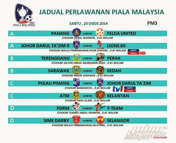 live Piala Malaysia 23 Ogos 2014