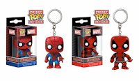 Funko Pop! KeyChain Spider-man & Deadpool