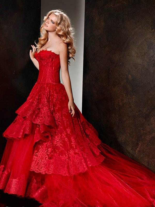 Erfreut Rot Und Gold Brautkleid Bilder - Brautkleider Ideen ...