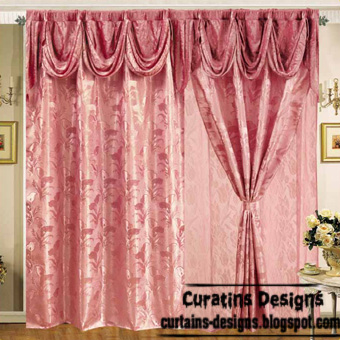 Spanish blackout curtain design, red curtains, embossed curtain fabric